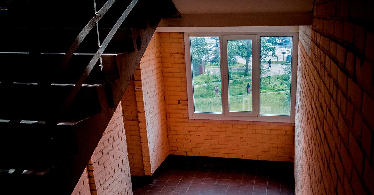 Заміна вікон у під'їзді
